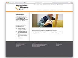 Screenshot der Website www.melanchthon-akademie.de